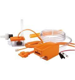 rectorseal aspen maxi orange 115 208 230 volt condensate pump for ductless mini split indoor units up to 5 tons rec83919 the home depot [ 1000 x 1000 Pixel ]