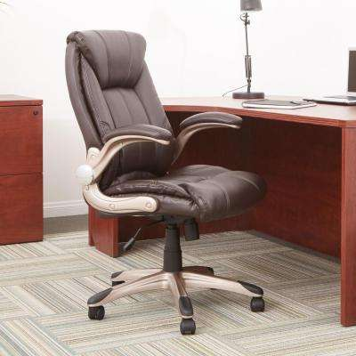 leather chair office classical guitar chairs home furniture the depot faux mid back managers