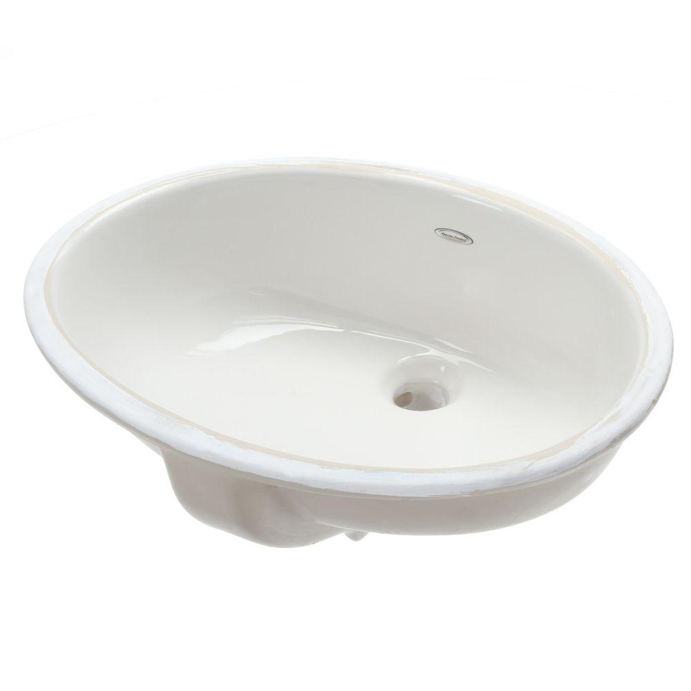american standard white kitchen faucet drawer liners ovalyn undermount bathroom sink in ...