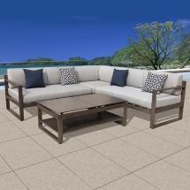 Ove Decors Melia 4-piece Aluminum Outdoor Sectional Set
