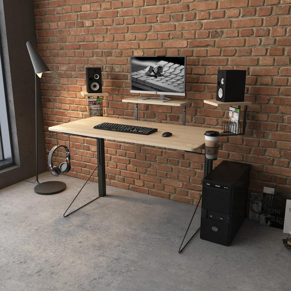 Jamesdar Carnegie BlackNatural Gaming DeskJCDES866BK