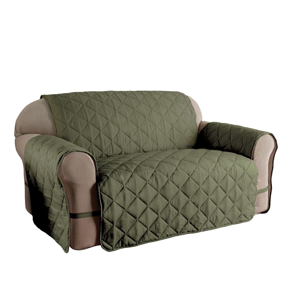 quilted microsuede sofa cover small reclining sectional sofas innovative textile solutions microfiber solid ultimate xl sage protector