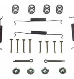 wagner brake rear drum brake hardware kit fits 1965 1967 volkswagen beetle beetle karmann [ 1000 x 1000 Pixel ]