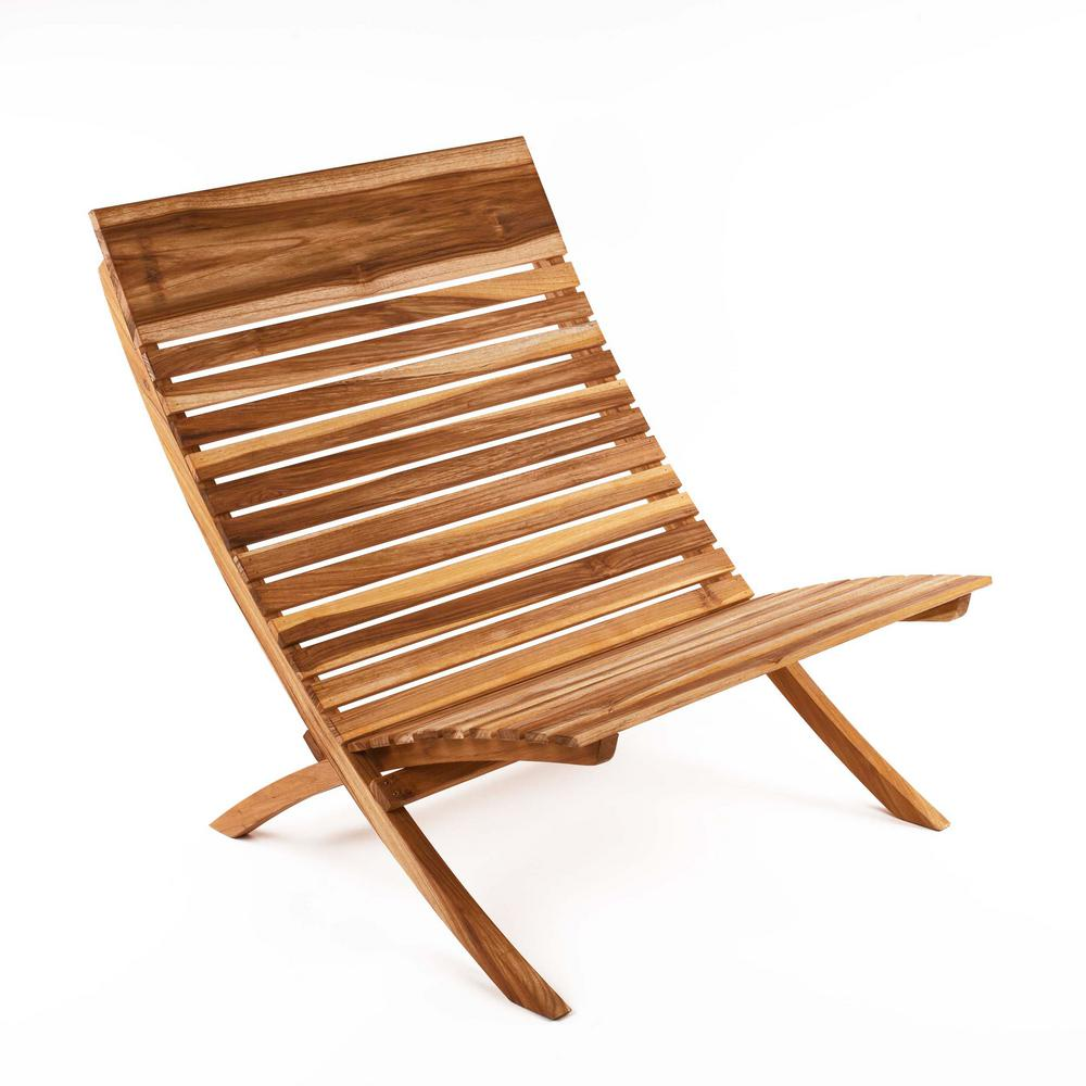 Banana Rocker Chair Barcelona Natural Teak Wood Lounge Chair