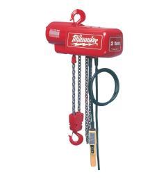 milwaukee 1 2 ton 10 ft electric chain hoist [ 1000 x 1000 Pixel ]