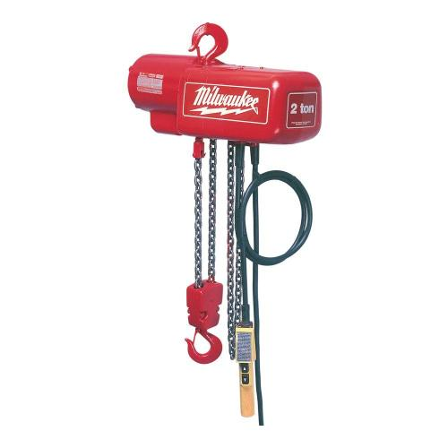 small resolution of milwaukee 1 2 ton 10 ft electric chain hoist