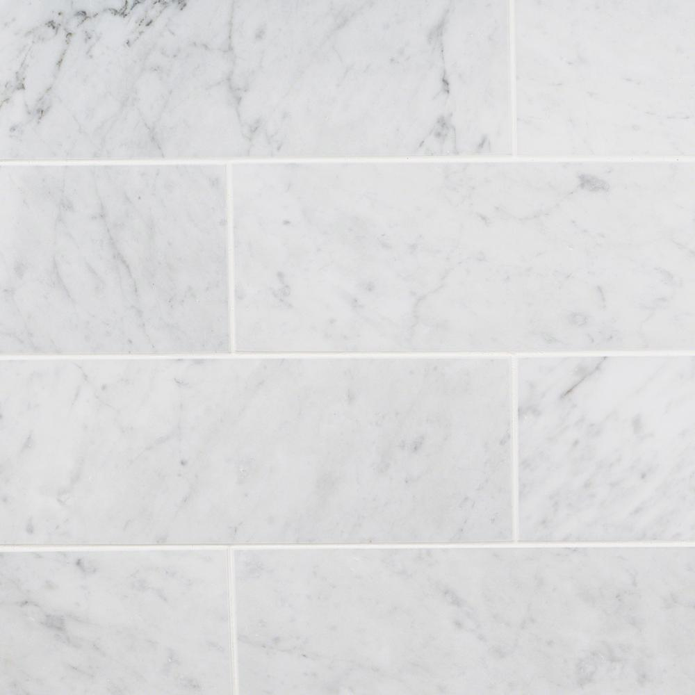 Ivy Hill Tile White Carrara 4 in. x 12 in. x 9mm Polished