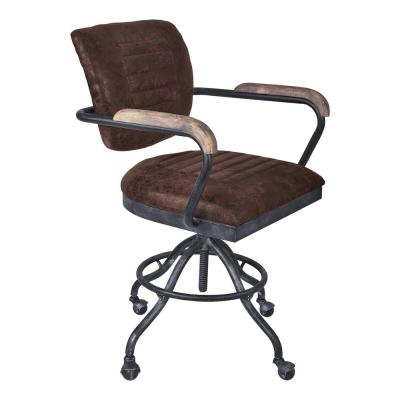 harith high back leather executive chair covers wedding venue acme furniture retro brown top grain office brice