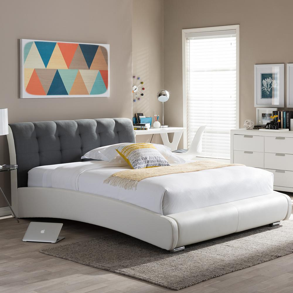 DMI Furniture Seaside Lodge Hand Rubbed White Queen Panel Bed5523500  The Home Depot