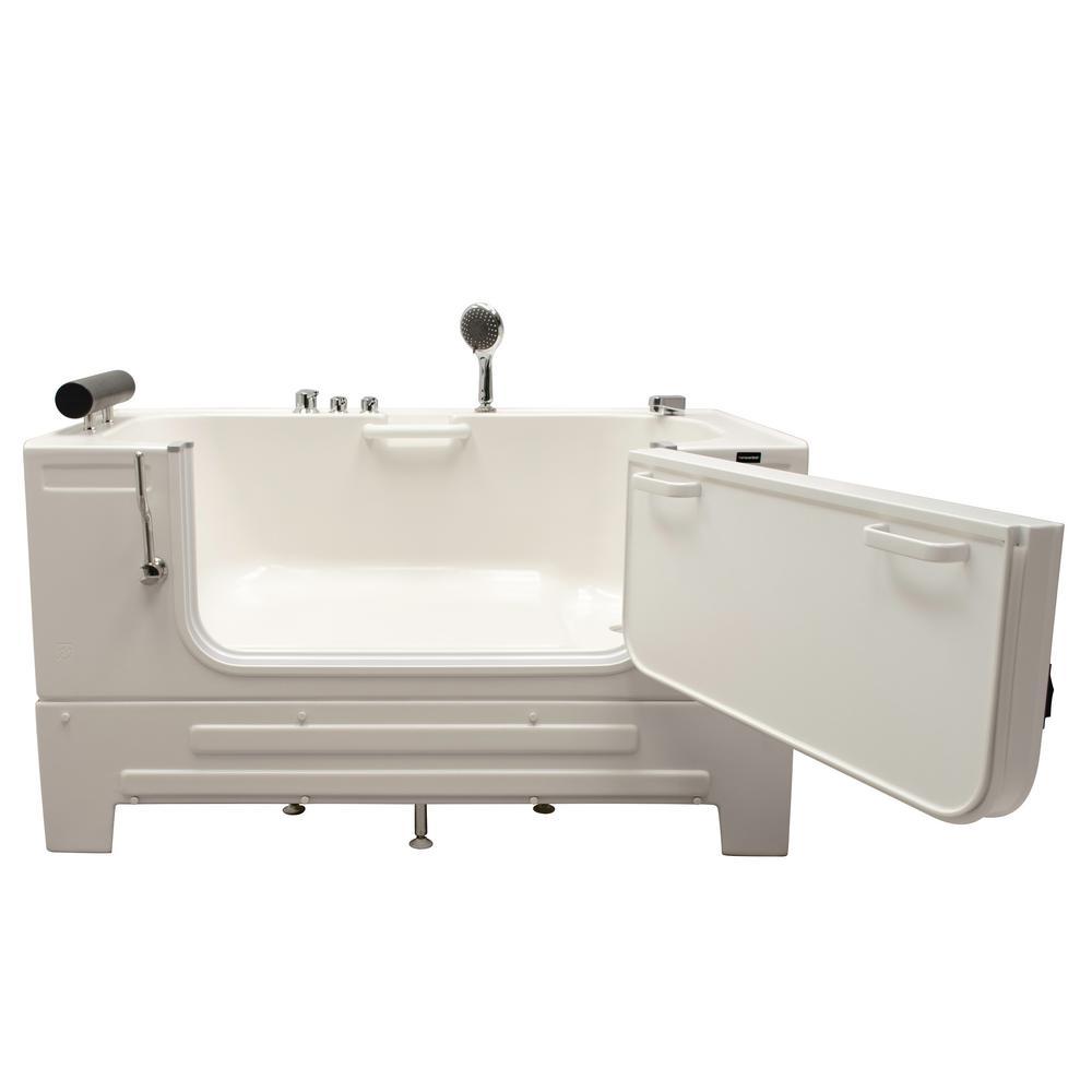 Homeward Bath Neptune 517 ft Right Drain SitIn Bathtub with Heated Air in WhiteHY1242R  The