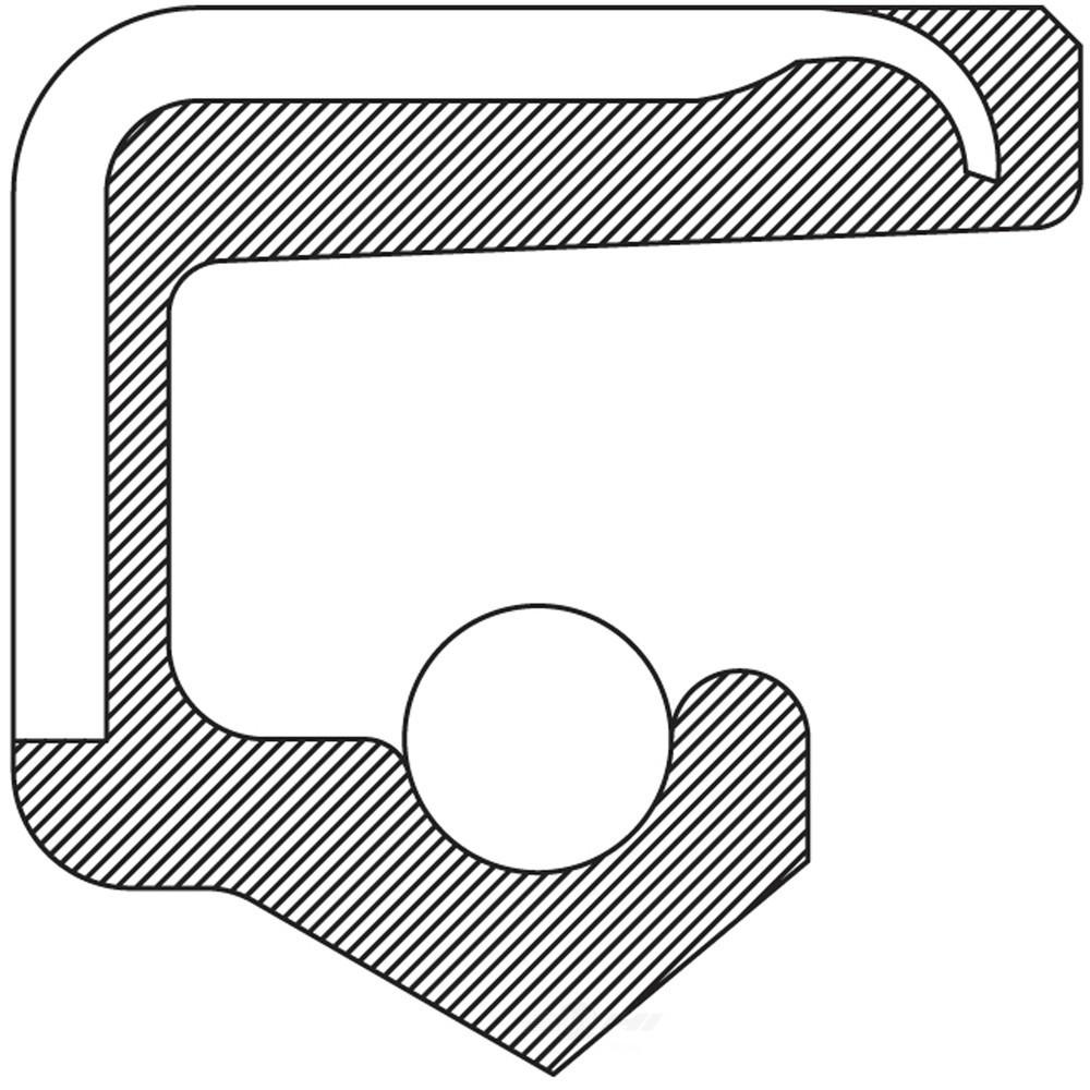 NATIONAL Rear Inner Wheel Seal fits 1979-1986 Nissan