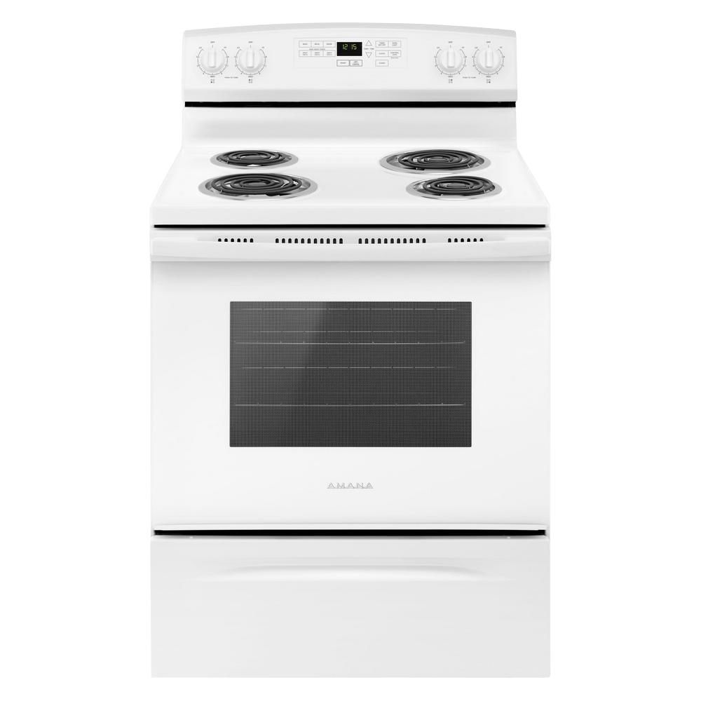 medium resolution of amana 4 8 cu ft electric range in white
