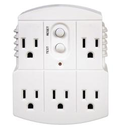 tower manufacturing corporation gfci 5 outlet adapter [ 1000 x 1000 Pixel ]