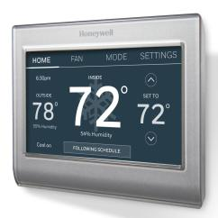 Honeywell Wifi Thermostat Rth8580wf Wiring Diagram Cat5e Rj45 Jack Wi-fi Programmable Touchscreen And Free App-rth8580wf - The Home Depot