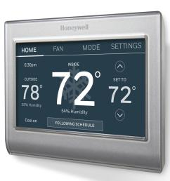 honeywell smart wi fi 7 day programmable color touch thermostat works with amazon alexa smartthings google home ifttt [ 1000 x 1000 Pixel ]