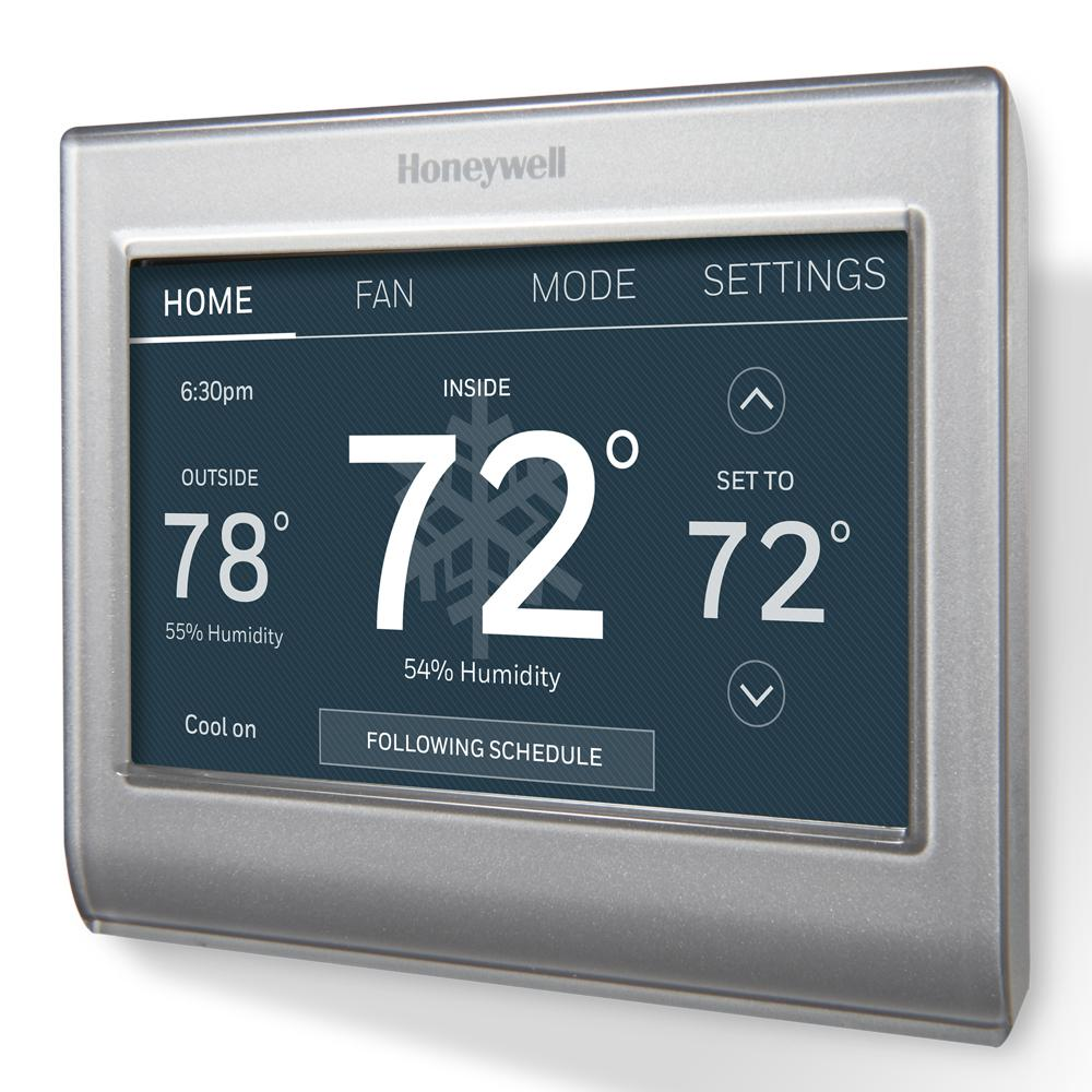 hight resolution of honeywell smart wi fi 7 day programmable color touch thermostat works with amazon alexa smartthings google home ifttt