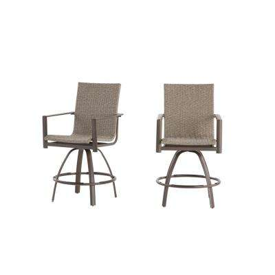 bar height outdoor chairs ergonomic chair officeworks stools furniture the home depot beckham 2 pack swivel wicker balcony stool