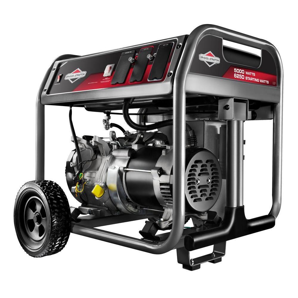 medium resolution of briggs stratton 5 000 watt gasoline powered portable generator
