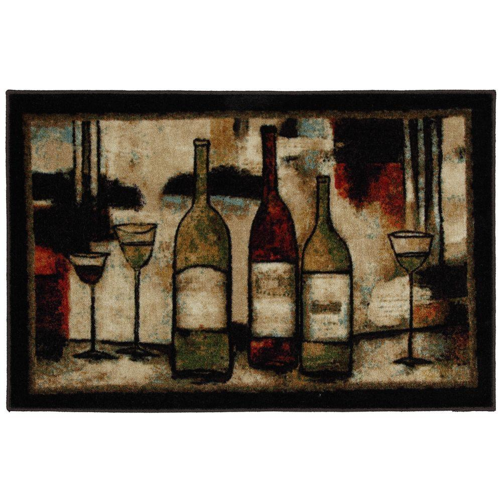 wine kitchen rugs composting waste mohawk home and glasses 2 ft 6 in x 3 10 rug