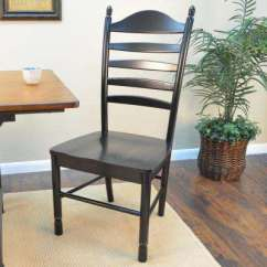 Farmhouse Dining Room Chairs Ready Chair Ladder Back Kitchen Whitman Antique Black Wood
