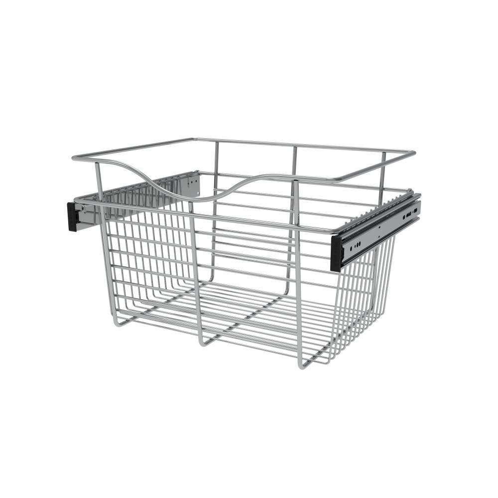 Rev-A-Shelf 18 in. x 11 in. Chrome Closet Pull-Out Basket