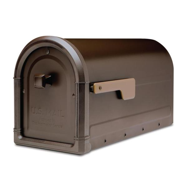 Cast Aluminum Mailbox with Post
