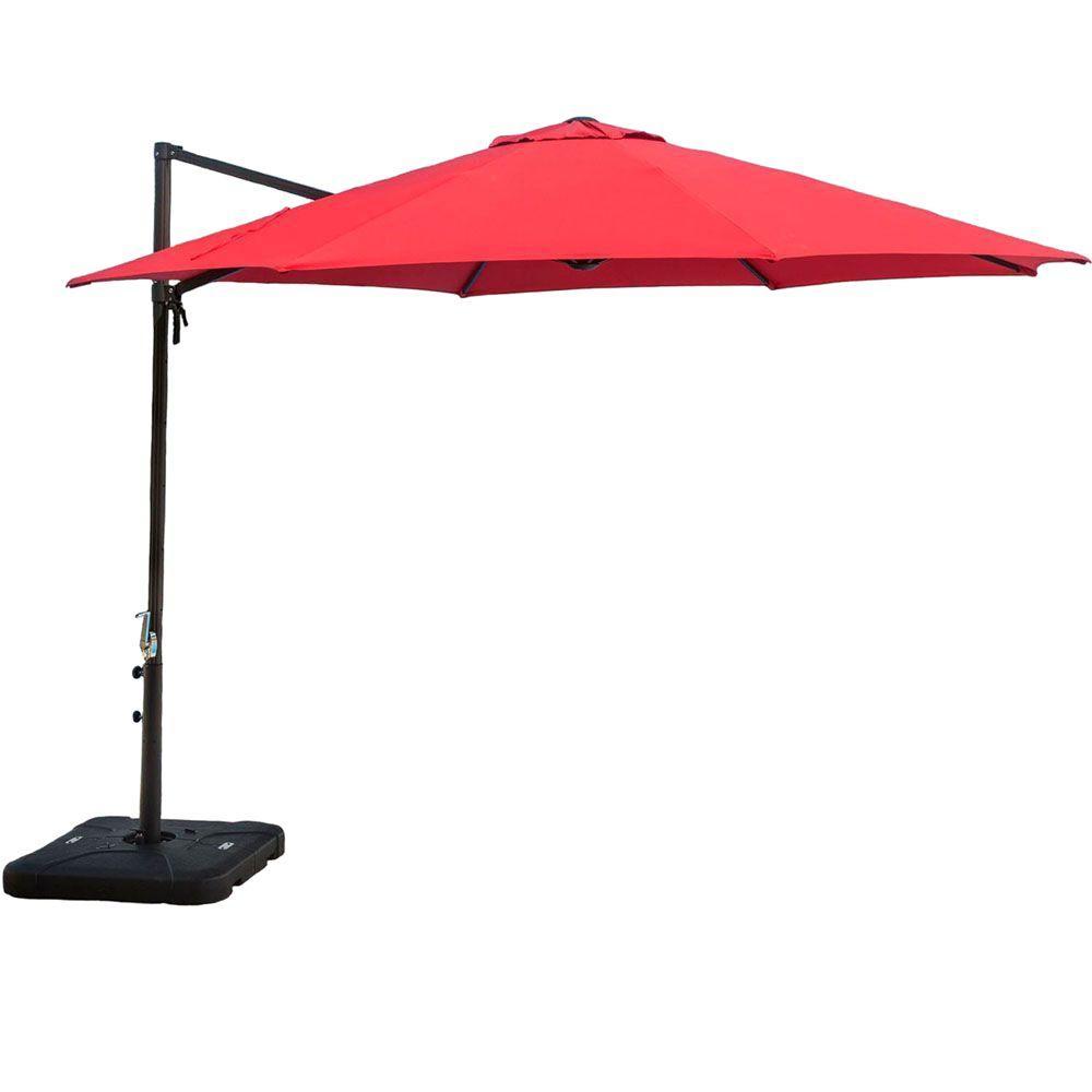 Hanover 11 ft Cantilever Patio Umbrella in RedCANTILEVER