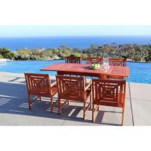 Vifah Malibu 7-piece Rectangle Patio Dining Set-v1394set14