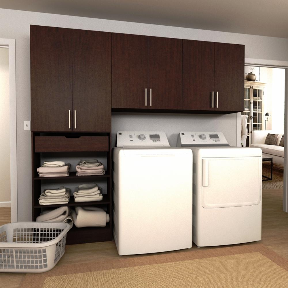 Modifi Horizon 90 in W Mocha Wide Tower Storage Laundry