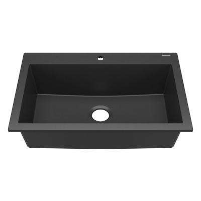 black sink kitchen wall faucet drop in sinks the home depot camille