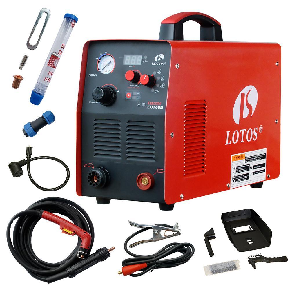 medium resolution of lotos supreme cut60d 60 amp digital cnc pilot arc plasma cutting machine with plasma gouging