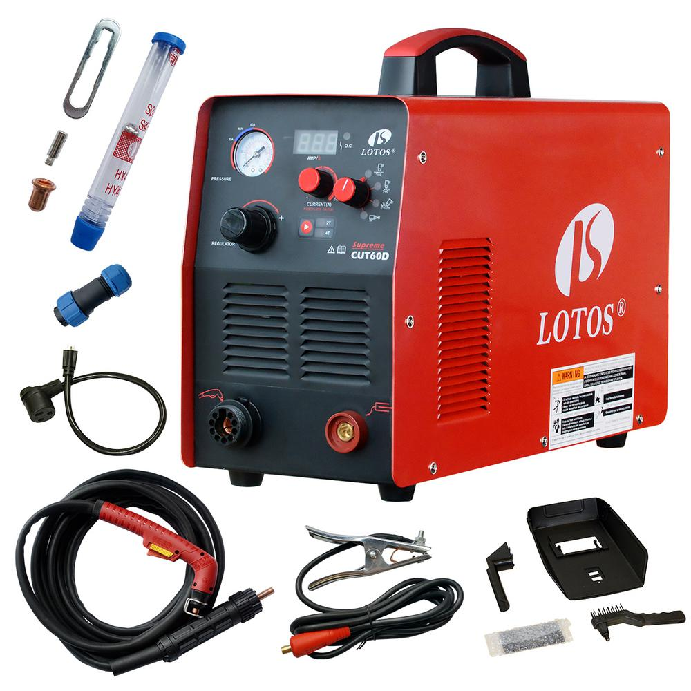 hight resolution of lotos supreme cut60d 60 amp digital cnc pilot arc plasma cutting machine with plasma gouging