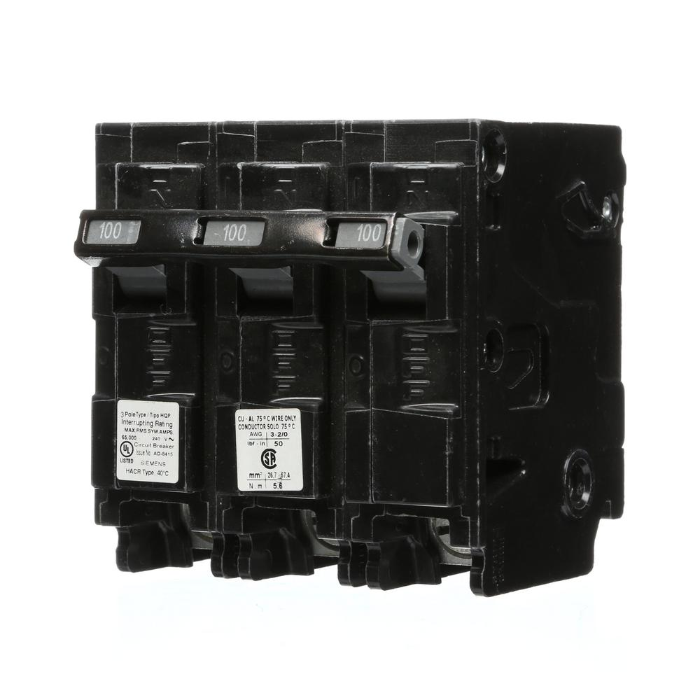 hight resolution of siemens 100 amp 3 pole type hqp 65ka circuit breaker