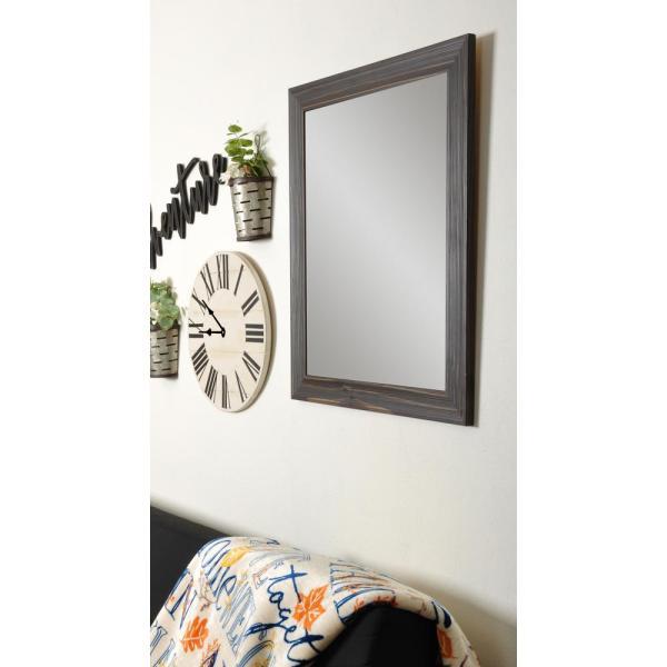 Rustic Espresso Framed Mirror-bm017sq - Home Depot