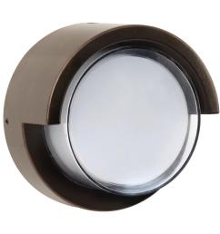 7 5 watt bronze outdoor integrated led low profile round wall pack light [ 1000 x 1000 Pixel ]