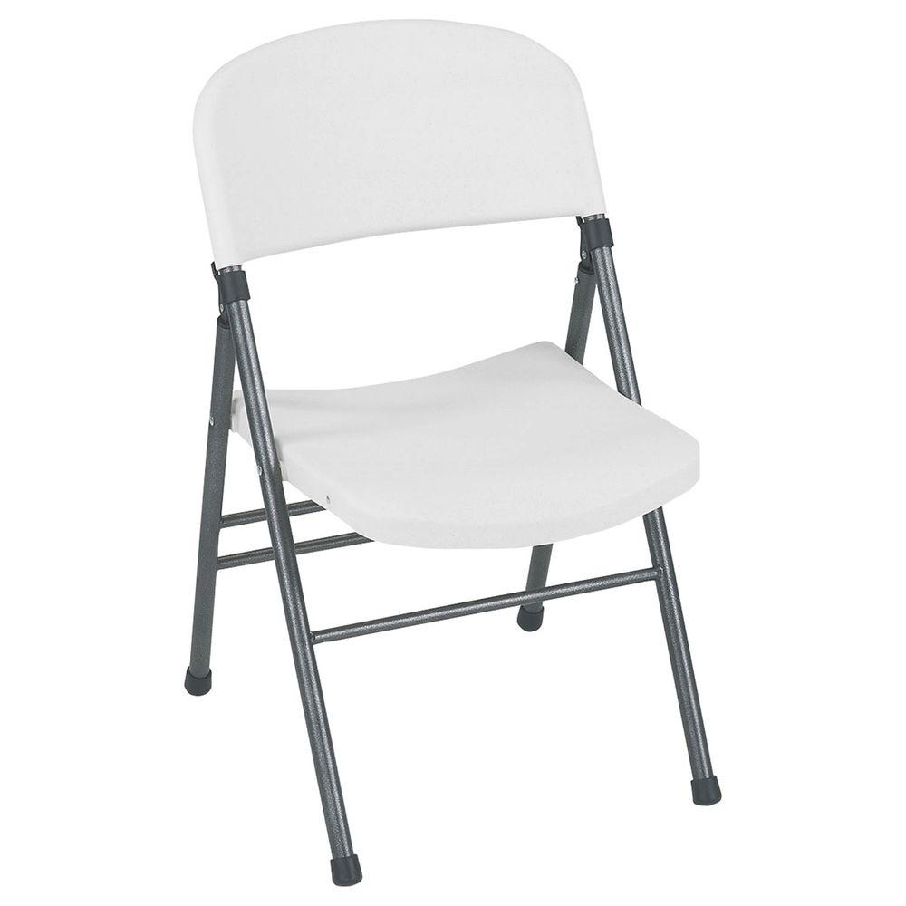 folding chair outdoor tin rail cosco resin with molded seat and back in white speckle 4 pack