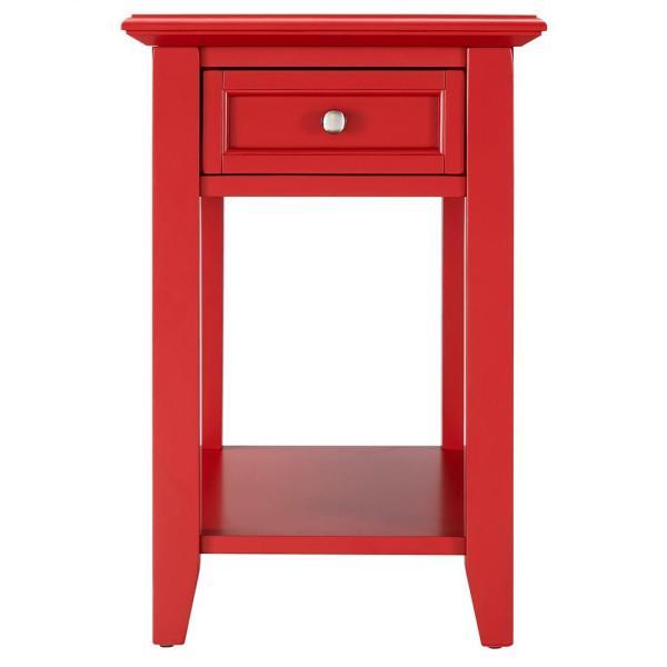 Homesullivan Harrison Red Side Table-40e720a- - Home