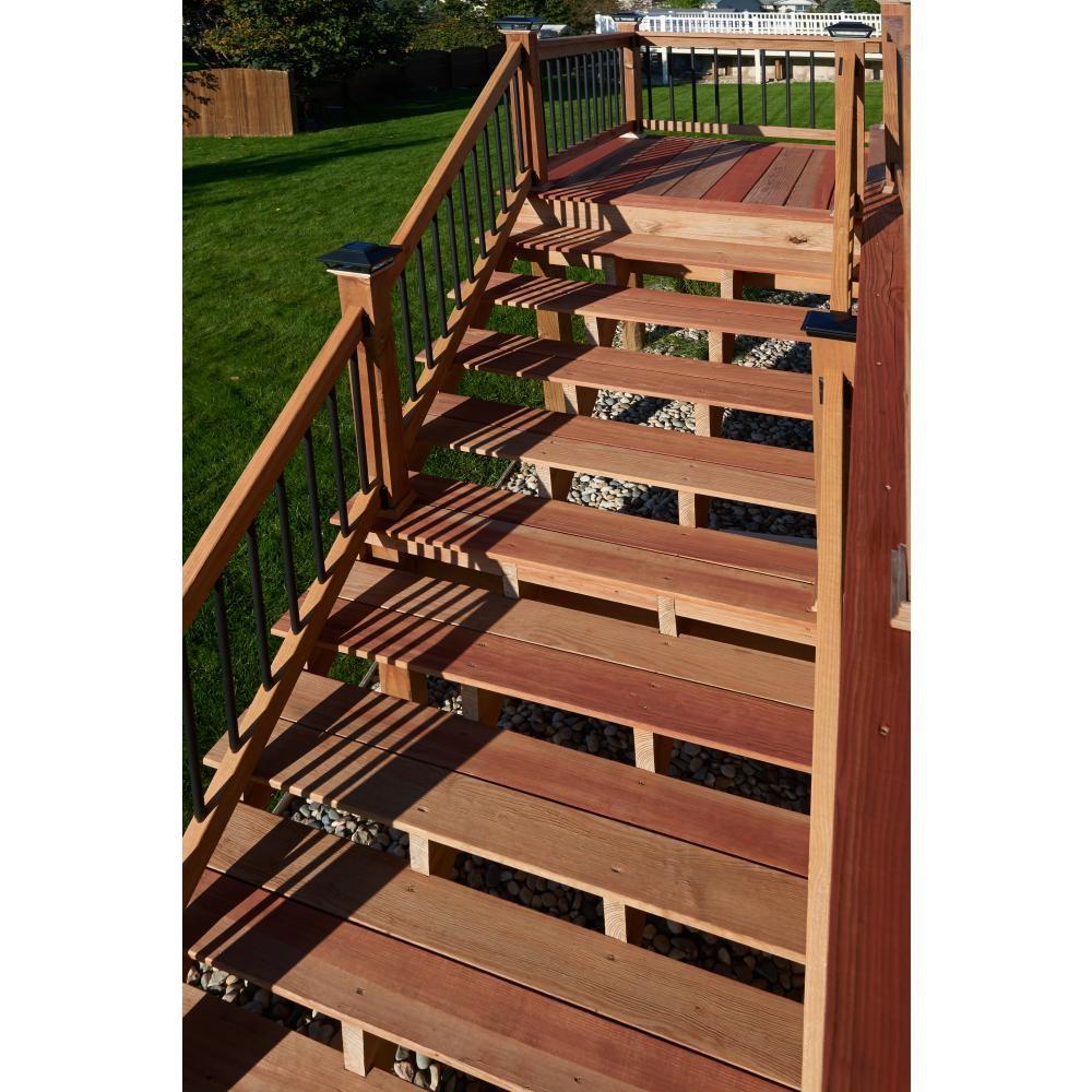 2 Step Pressure Treated Cedar Tone Pine Stair Stringer 215726 | Pre Built Wooden Steps | 12 Step | Interior | Box | Oak | Premade