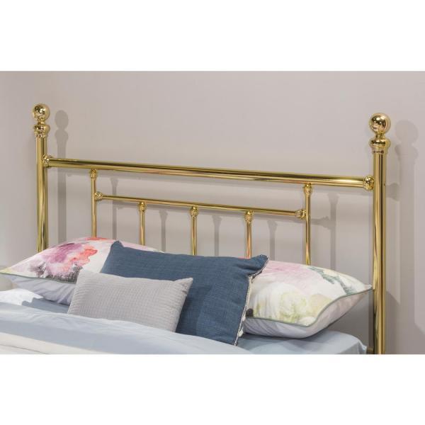 Hillsdale Furniture Chelsea Classic Brass Queen Headboard-1038hqr - Home Depot