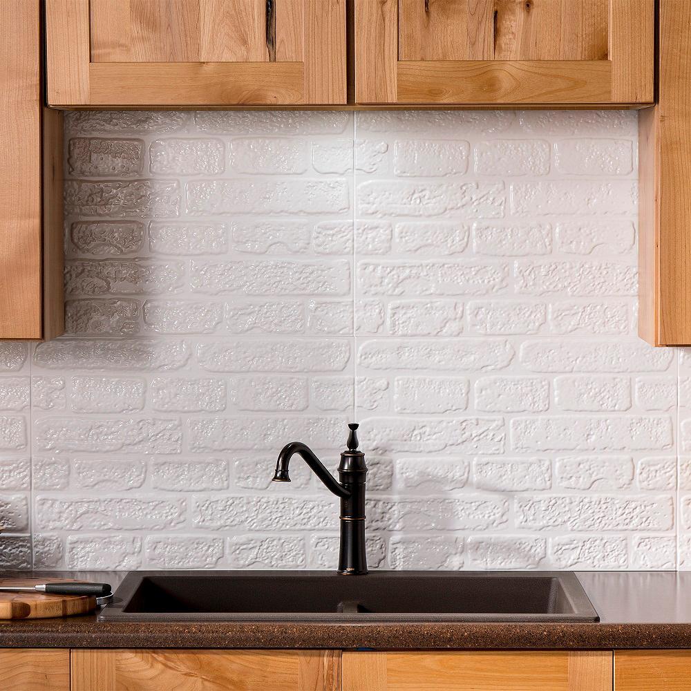 Fasade Brick 2425 in x 1825 in Vinyl Backsplash in