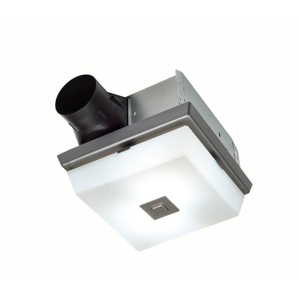 hight resolution of invent decorative polished steel finish 70 cfm ceiling installation bathroom exhaust fan with light