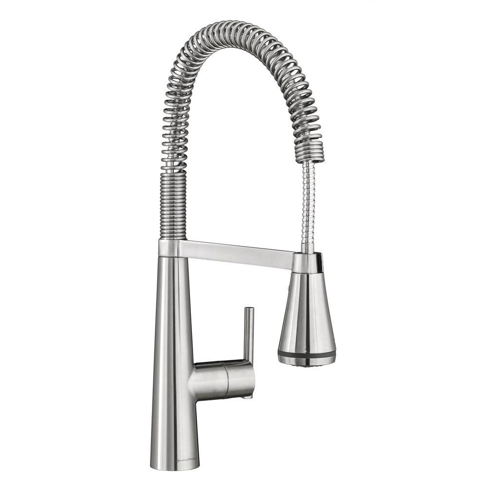 professional kitchen faucet custom islands american standard edgewater semi single handle pull down sprayer with selctflo in stainless steel
