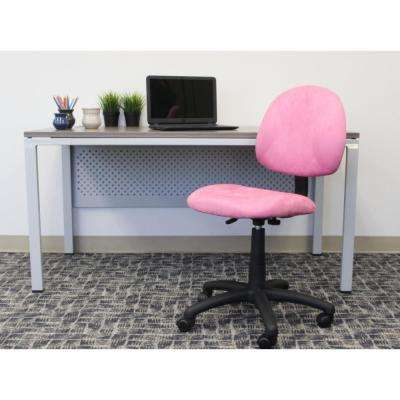 hot pink office chair cheap barber chairs best rated desk home microfiber deluxe posture