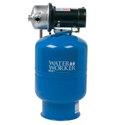 water worker city water pressure booster system with 14 gal well tank 1  [ 1000 x 1000 Pixel ]