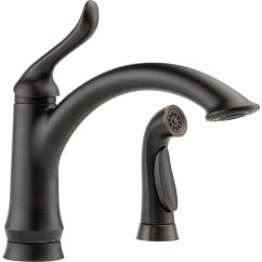 Home Depot Delta Kitchen Faucets Birch Cabinets Linden Single Handle Standard Faucet With Side Sprayer In Venetian Bronze