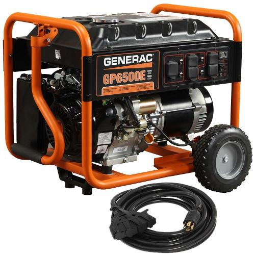 small resolution of generac gp6500e 6 500 watt gasoline powered electric start portable generator with cord