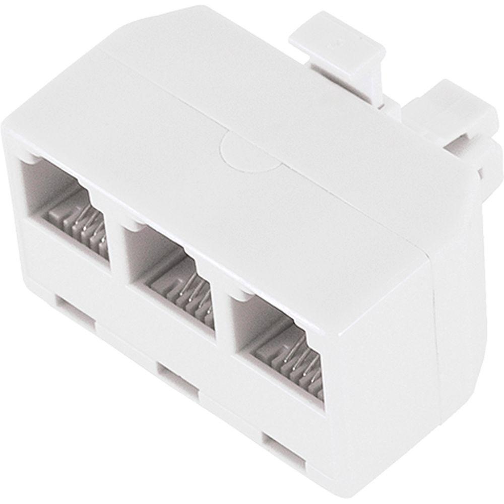 hight resolution of power gear 3 way phone line splitter white