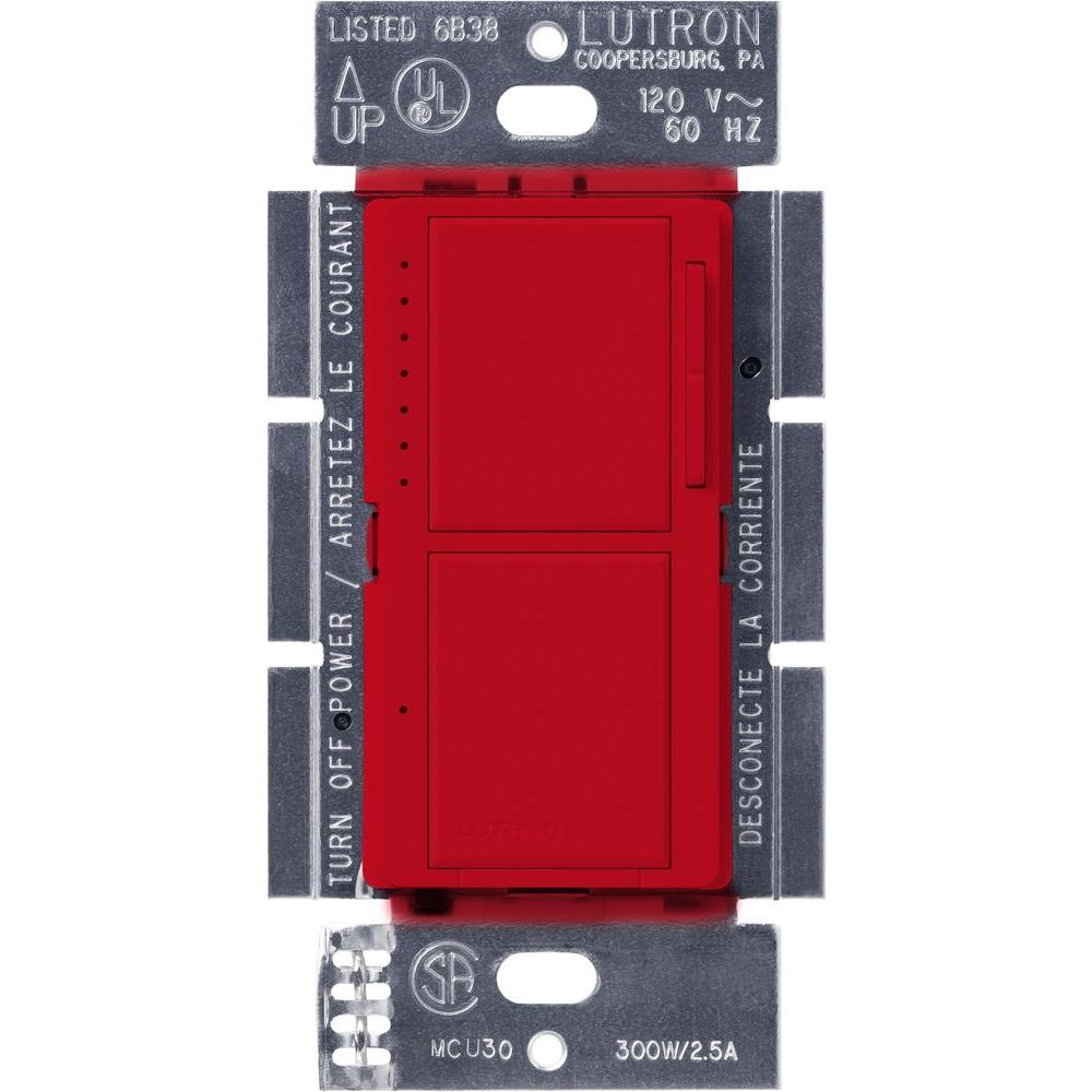 Lutron Maestro Dual Dimmer Switch Palladium