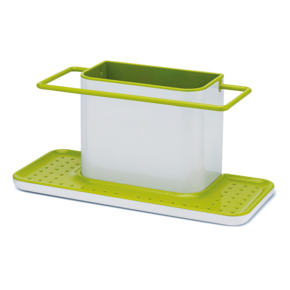 kitchen caddy work station table joseph large sink tidy in white and green 04437 the home depot