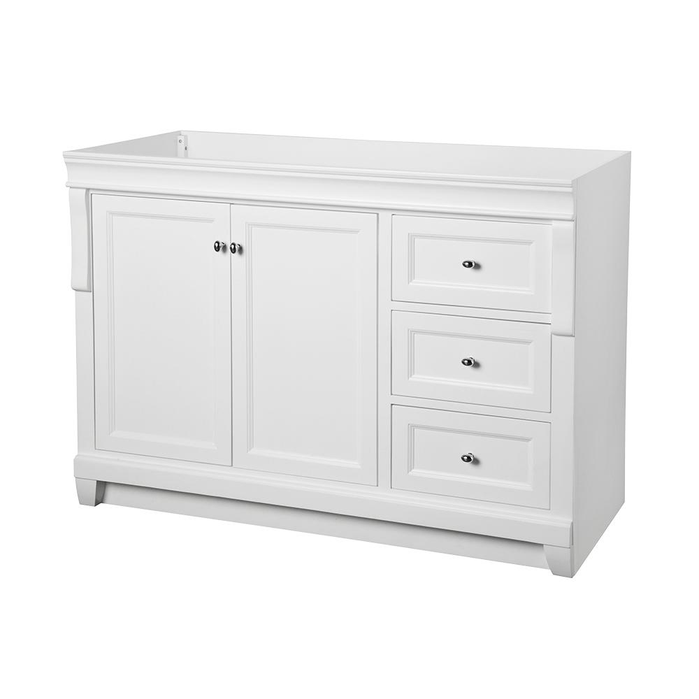 Foremost Naples 48 in W Bath Vanity Cabinet Only in WhiteNAWA4821D  The Home Depot